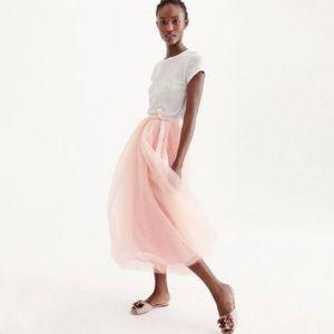 NWT J Crew Women's Tulle Ball Skirt - Pale Pink